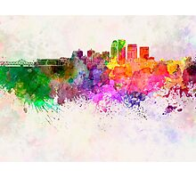 Louisville skyline in watercolor background Photographic Print