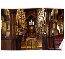 St Pauls Cathedral Melbourne Poster