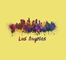 Los Angeles skyline in watercolor Kids Tee