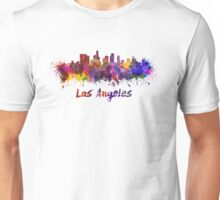 Los Angeles skyline in watercolor Unisex T-Shirt