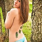 Butterflies in the forest by redhairedgirl