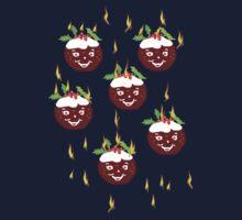 Hot Christmas Puddings T SHIRT/ART Kids Tee
