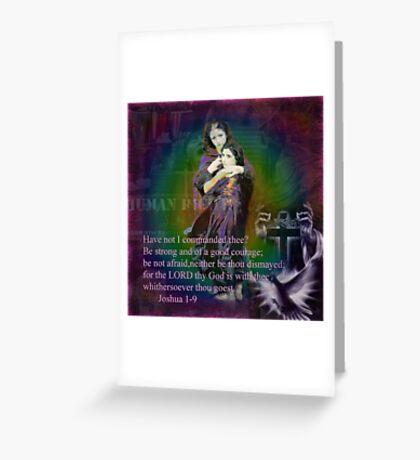 Joshua 1-9 Greeting Card