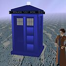 Dr who david tennant out side tardis by LokiLaufeysen