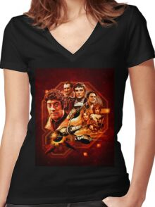 Blake's 7 Series 1 Montage Women's Fitted V-Neck T-Shirt