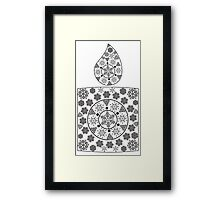 Candle Made of Snowflakes 2 Framed Print