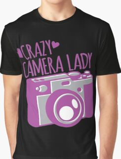 Crazy Camera Lady Graphic T-Shirt