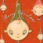 Christmas Decorations Elf Baubles card by Beesty