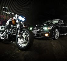Harley Davidson Dyna & Subaru WRX by Kerrod Sulter