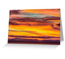 Fire in the Sky over Vancouver Island, Canada  Greeting Card
