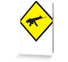 Beware Digital GAMER crossing design Greeting Card