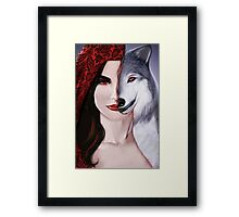 Ruby the wolf. Framed Print