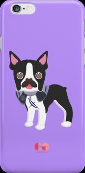 Hawkeye Boston Terrier by centtaro