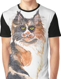 Calico Maine Coon Graphic T-Shirt