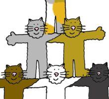Happy 18th Birthday cartoon cats. Sticker