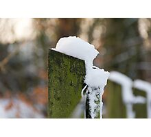 Snowy Fence Photographic Print