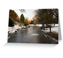Doxford Park under Ice and Snow Greeting Card