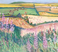 Godmanstone Hillside by Susan Duffey