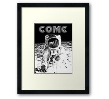 Come back to the Moon Framed Print