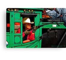 Grandma Riding Shotgun Canvas Print