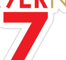 KAE9ERNICK 7 - QB #7 Colin Kaepernick of the San Francisco 49ers Sticker