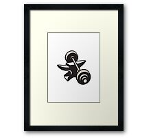 Anvil And Barbell Retro Framed Print