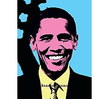 Barack Obama with Andy Warhol Pop Art Style Photographic Print
