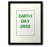 Earth Day 2052 Framed Print