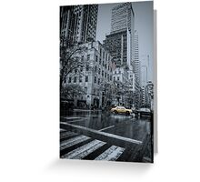 rainy 5th Ave Greeting Card