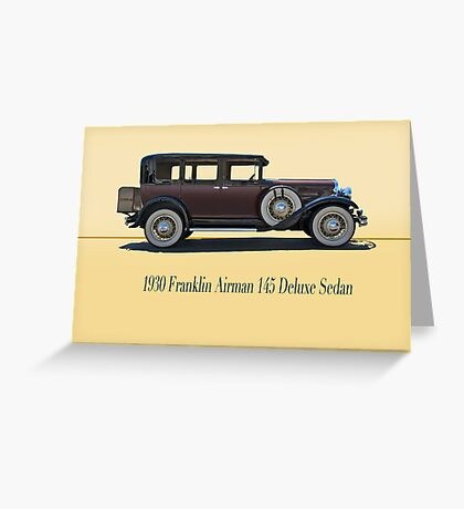 1930 Franklin Airman 145 Deluxe Sedan w/ ID Greeting Card