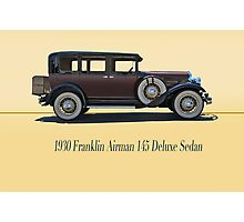 1930 Franklin Airman 145 Deluxe Sedan w/ ID Photographic Print