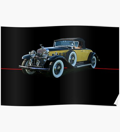 1929 Cadillac Convertible Coupe Poster