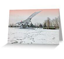 Heathrow Concorde - Brooklands Museum Greeting Card