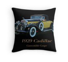 1929 Cadillac Convertible Coupe Throw Pillow