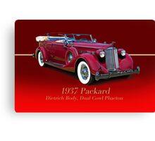 1937 Packard Dual Cowl Phaeton w/ID Canvas Print