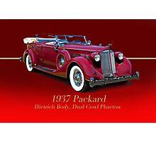 1937 Packard Dual Cowl Phaeton w/ID Photographic Print