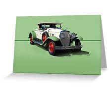 1929 Cadillac 341B Convertible V8 w/o ID Greeting Card