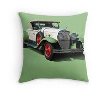 1929 Cadillac 341B Convertible V8 w/o ID Throw Pillow