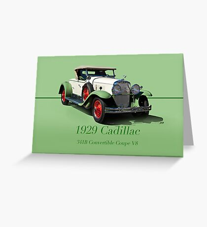 1929 Cadillac 341B Convertible V8 w/ID Greeting Card