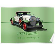 1929 Cadillac 341B Convertible V8 w/ID Poster