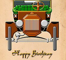 Model T - Happy Birthday Grandad card by Dennis Melling