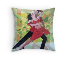 Prismatic Argentinean Tango Dancers 3 Throw Pillow