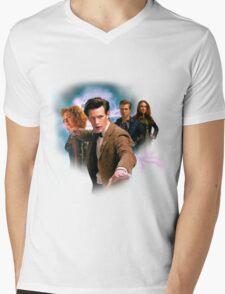 Doctor And Ponds Mens V-Neck T-Shirt
