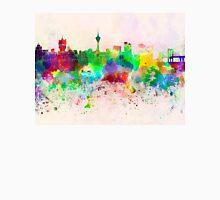 Macau skyline in watercolor background Unisex T-Shirt