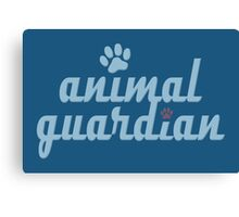 animal guardian - animal cruelty, vegan, activist, abuse Canvas Print