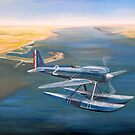 Supermarine S-6 over Calshot by Jack Froelich