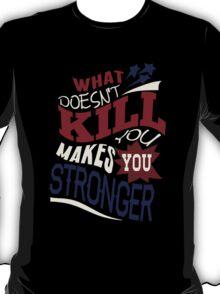Stronger- KELLY CLARKSON Lyric Shirt *BLUE/RED* T-Shirt