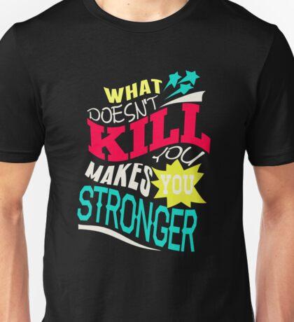 Stronger- KELLY CLARKSON Lyric Shirt *BLUE/PINK/YELLOW* Unisex T-Shirt