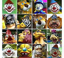 16 Fairground Faces by Yampimon