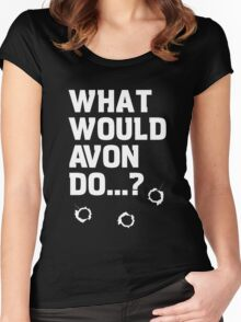 Blake's 7 - What would Avon do? Women's Fitted Scoop T-Shirt